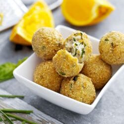 Ricotta Balls with Basil